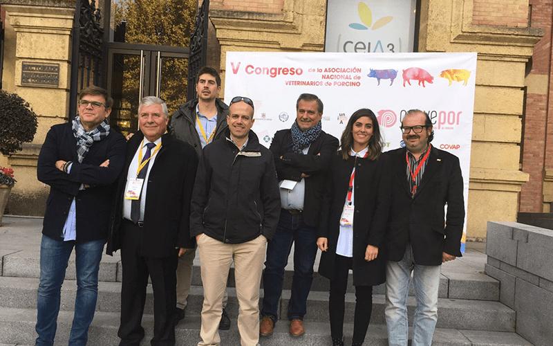 Colaboración en el V Congreso de la Asociación Nacional de Veterinarios de Porcino