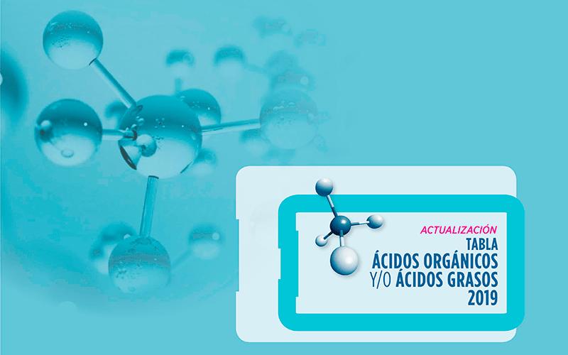 Actualización en ácidos orgánicos y/o ácidos grasos